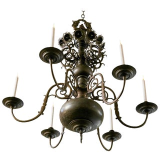 Magnificent Bronze Dutch Baroque Flemish Style Chandelier