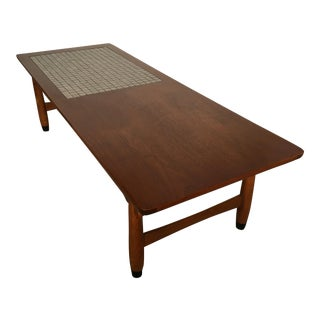 Vintage Mid Century Modern Lane Mosaic Top Coffee Table