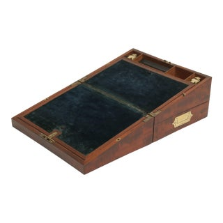 English Georgian Mahogany Campaign Writing Slope Box