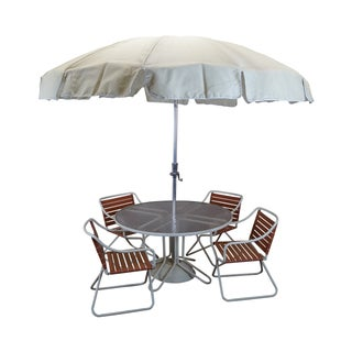 Brown Jordan Mid-Century Aluminum Patio Set