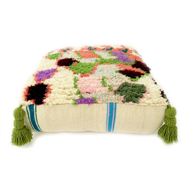 Vintage Abstract Moroccan Pouf - Image 6 of 8