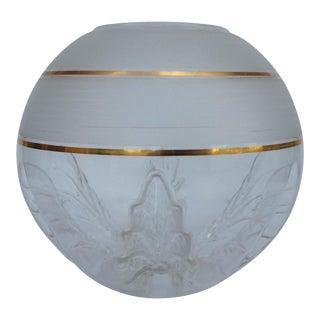 Italian Murano Mazzega Orb Globe and Gold Center Vase