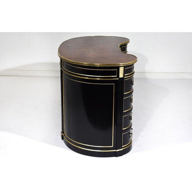 Antique French Regency-style Kidney Desk - Image 8 of 10