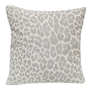 Gray Animal Print Pillow
