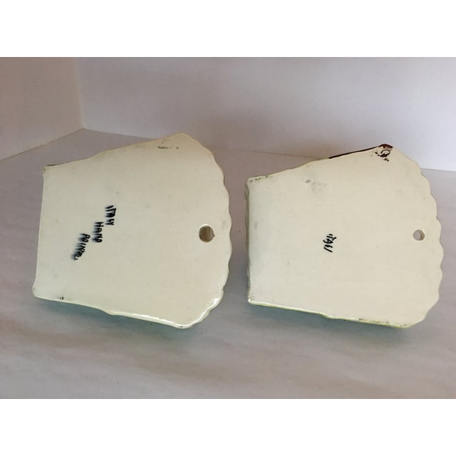Italian Terrier Dog & Bamboo Wall Pockets - A Pair - Image 8 of 11