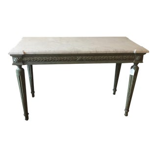 Honed Marble Top Console