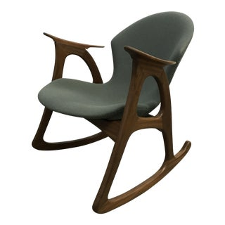 """Model A"" teak rocking chair by Aage Christiansen/ 1961"