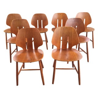 Ejvind A. Johansson Danish Oak Chairs - Set of 8