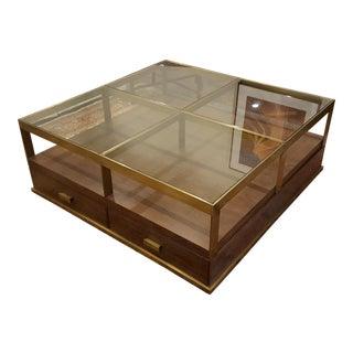 Compton Glass & Walnut Coffee Table
