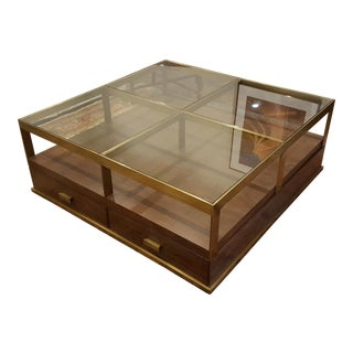 Compton Glass & Walnut Coffee Table