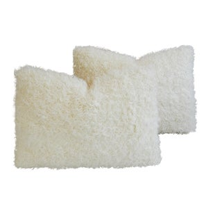 Kalgan White Lambswool Pillows - A Pair
