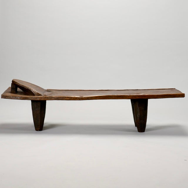 Ivory Coast Dark Wood Senufo Bench - Image 3 of 11