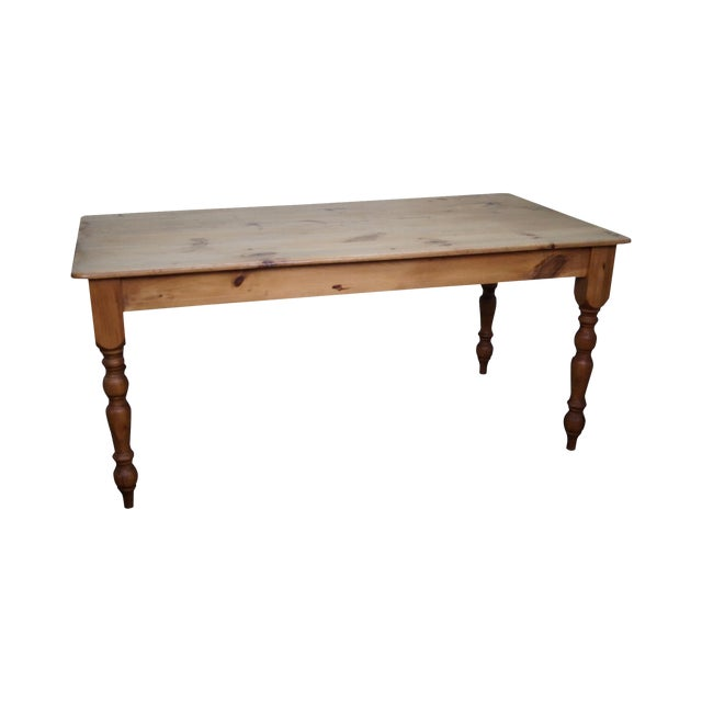 Image of Vintage Farmhouse Solid Pine Dining Table