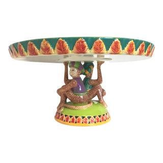 Ceramic Monkey Cake Stand