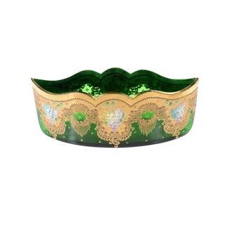 Moser Bohemian Emerald Green Glass Centerpiece