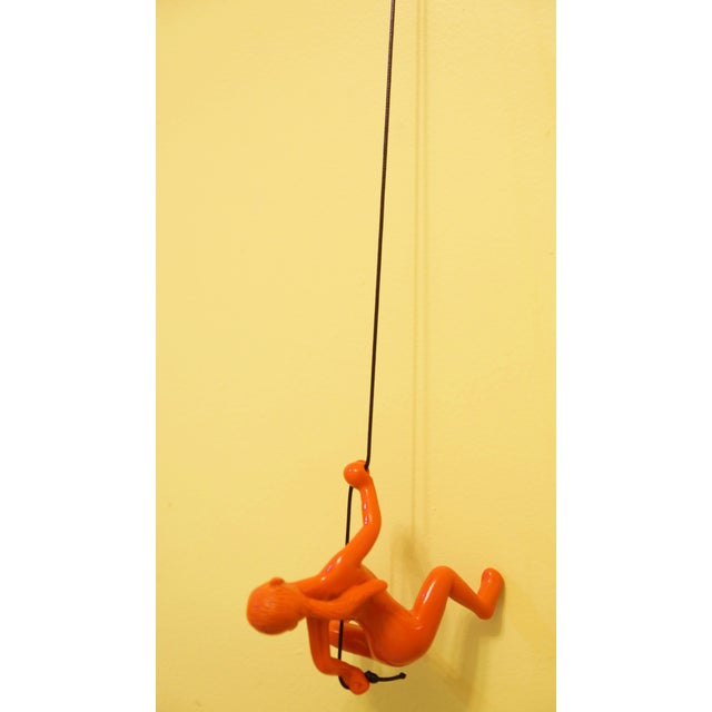 Image of Orange Climbing Girl Wall Decor