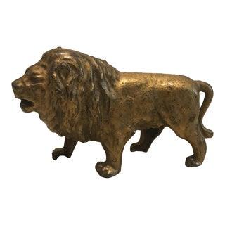 Antique a.c. Williams Cast Iron Lion Coin Bank