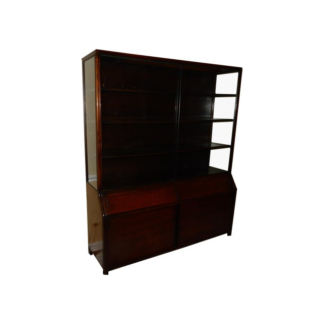 Mid-Century Glass Front China Display Cabinet - Image 1 of 11