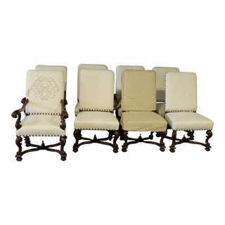 Ebanista Flanders Hand-Carved Dining Chairs - Set of 8