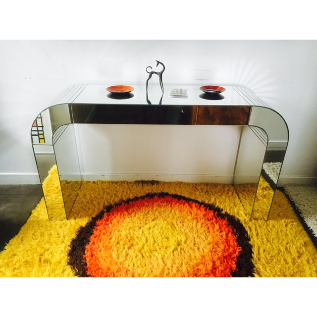 Vintage Mirrored Waterfall Console - Image 5 of 7