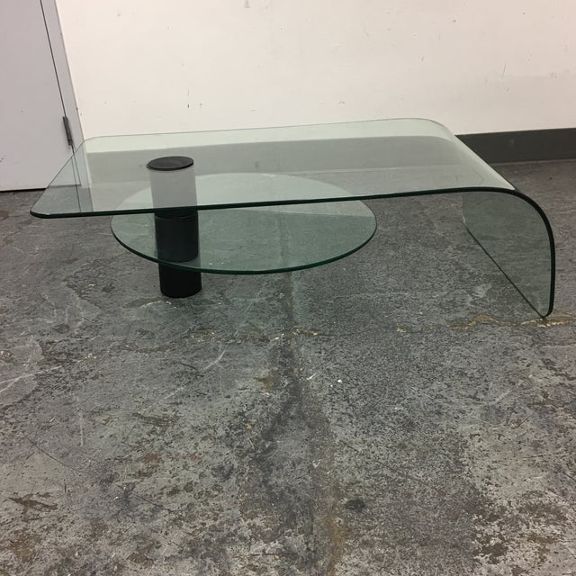 1970 39 S Italian Glass Waterfall Rotating Coffee Table Chairish