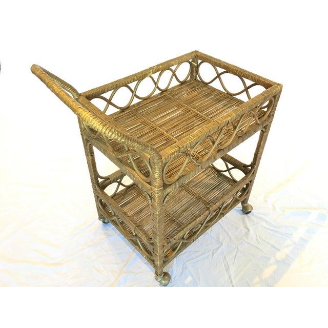 Regency Rattan Bar Cart - Image 5 of 5