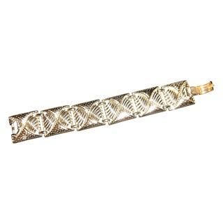 Coro Square Goldtone Link Bracelet