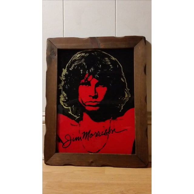 1970 Jim Morrison Reverse Painting on Glass - Image 2 of 5