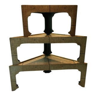 Asian Accent Stacking Tables - Set of 3