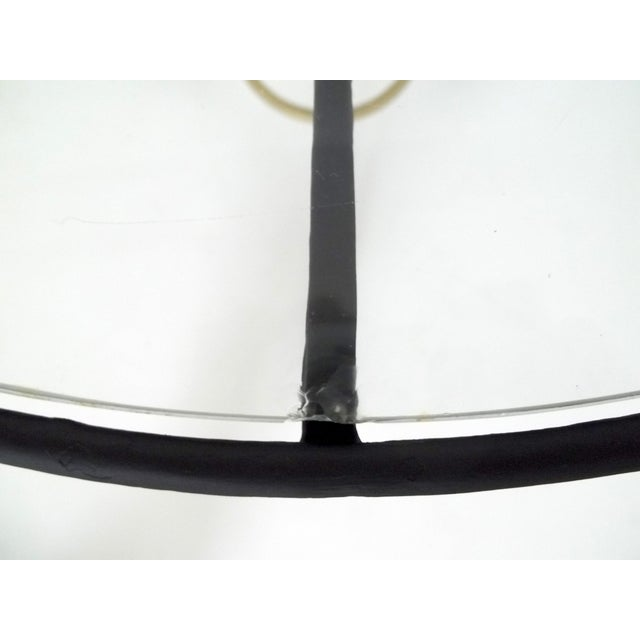 Image of Art Deco Style Black & Gold Wrought Iron End Table