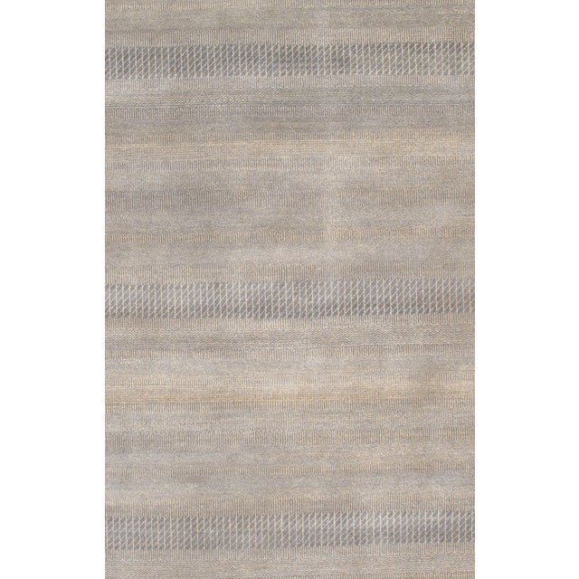 Image of Hand Knotted Modern Wool Rug - 8' X 10'