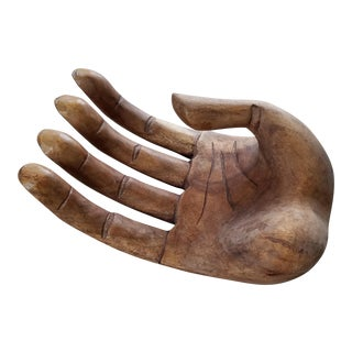 Indonesian Carved Wooden Hand SculptureTray