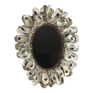 Oyster Shell Framed Mirror