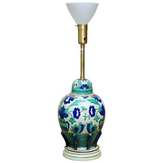 Marbro Italian Ceramic Faience Table Lamp