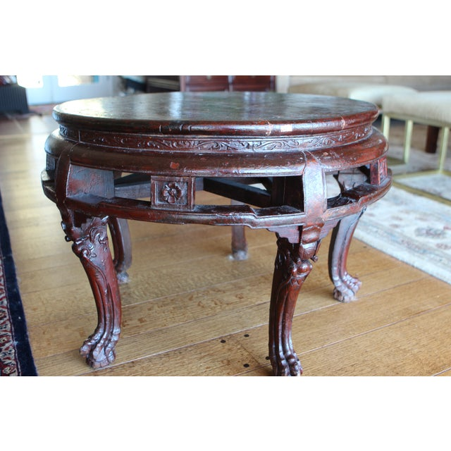 antique asian claw foot coffee table chairish. Black Bedroom Furniture Sets. Home Design Ideas