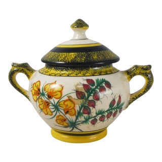 French Quimper Sugar Bowl
