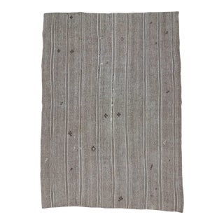 Vintage Gray Turkish Kilim Rug - 8′8″ × 12′3″
