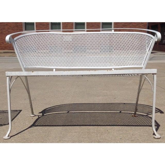 1950 39 S Wrought Iron Garden Settee Loveseat Chairish