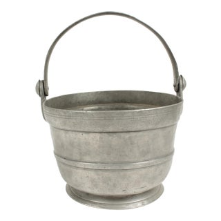 Antique Pewter Bucket