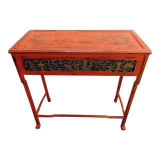 Vintage Oriental Red Table