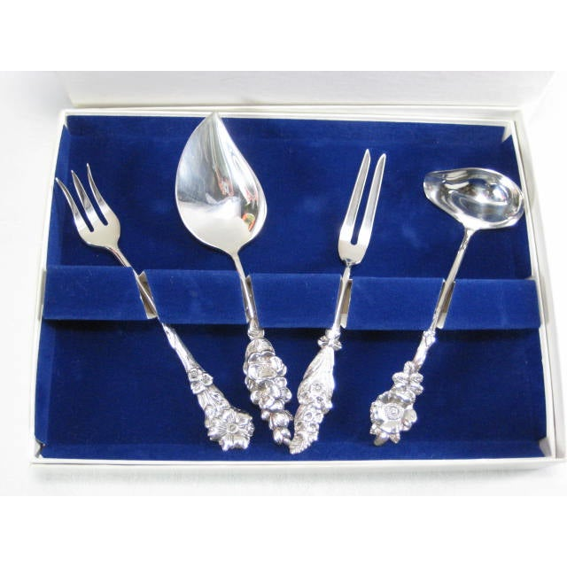 1960s Reed & Barton Silverplate Fiesta 4 Piece Set - Image 2 of 7