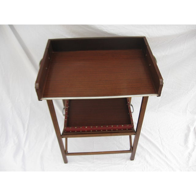 Mid-Century Collapsable Bar Cart - Image 5 of 9