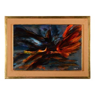 """1966 """"Bird Fury"""" Original Oil Painting by Leonardo Nierman"""
