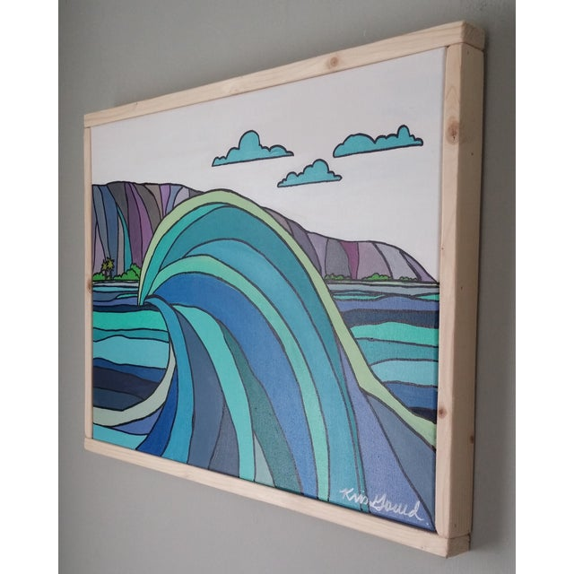 "Wave Painting - ""Wave and Beach"" - Image 5 of 5"