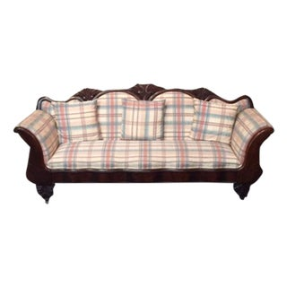 Antique Mahogany Carved Victorian Sofa