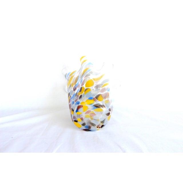 Sculptural Hand-Blown Handkerchief Vase - Image 3 of 6
