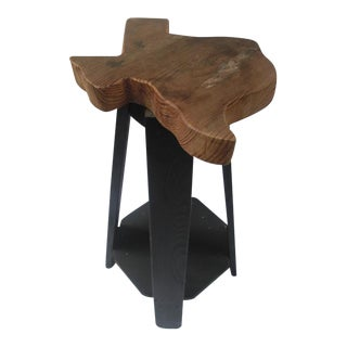 State of Texas Wood Side Table