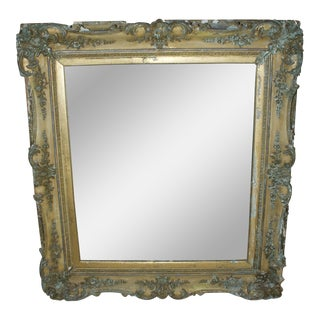 1800s Antique Gold Mirror