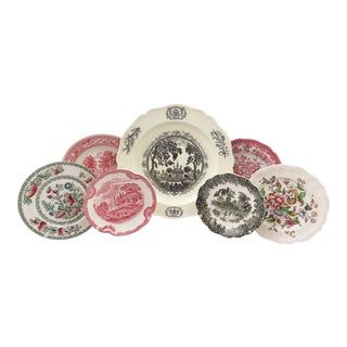 Mismatched Decorative China Plates - Set of 7