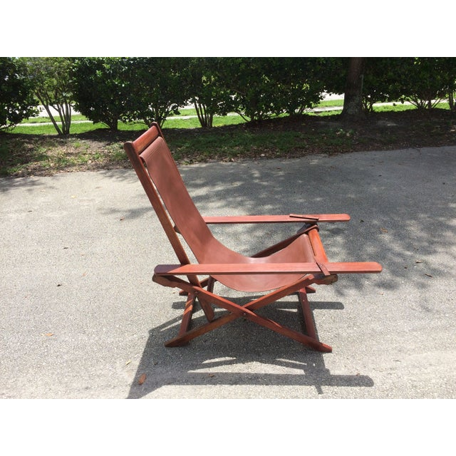 Antique Ocean Liner Folding Deck Chair - Image 2 of 11